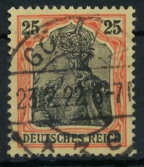 DEUTSCHES REICH 1900 18 GERMANIA Nr 88IIb ZENTR 89909A