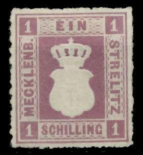 MECKLENBURG-STRELITZ Nr 3 ungebraucht 89C412