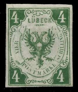 LÜBECK Nr 5a ungebraucht 89C436