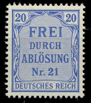 DEUTSCHES REICH DIENSTMARKEN 1903 05 Nr 5 postfrisch 89C47A