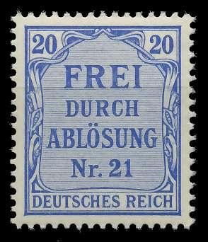 DEUTSCHES REICH DIENSTMARKEN 1903 05 Nr 5 postfrisch 89C492