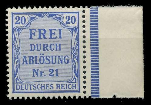 DEUTSCHES REICH DIENSTMARKEN 1903 05 Nr 5 postfrisch SR 89C496