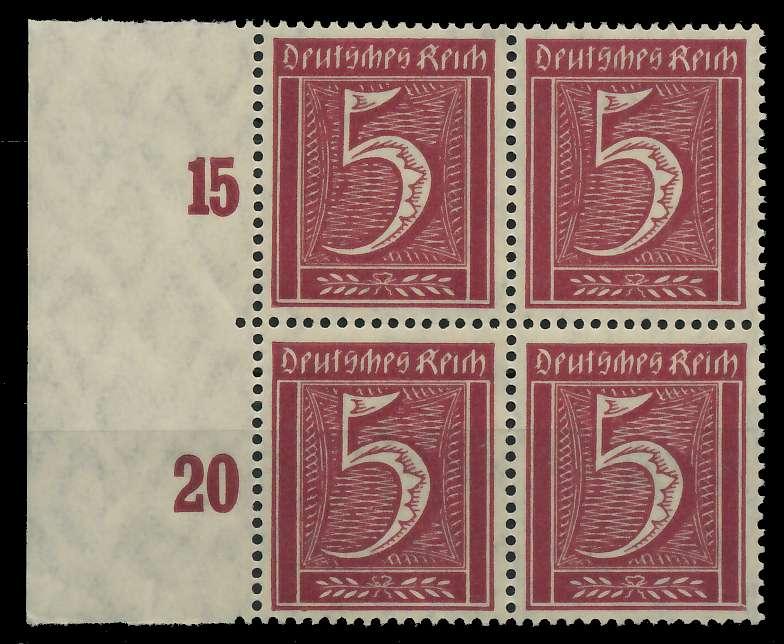 DEUTSCHES REICH 1921 INFLATION Nr 158 postfrisch VIERER 89C4B6