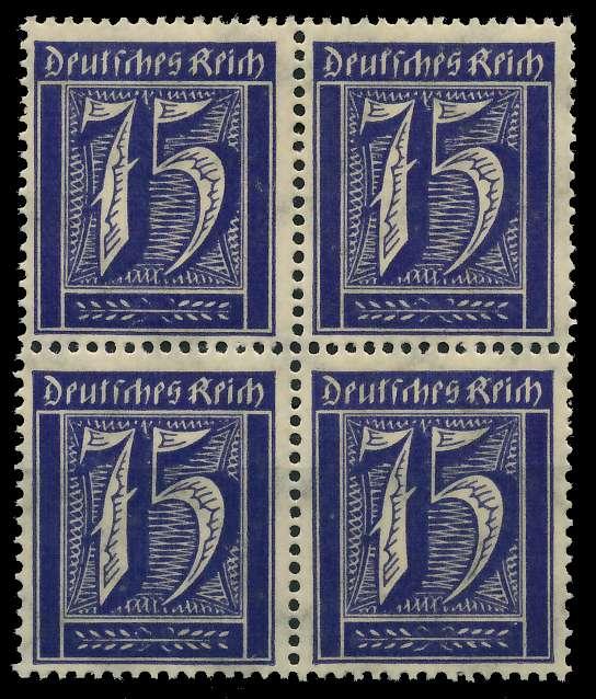 DEUTSCHES REICH 1921 INFLATION Nr 185 postfrisch VIERER 89C4D2