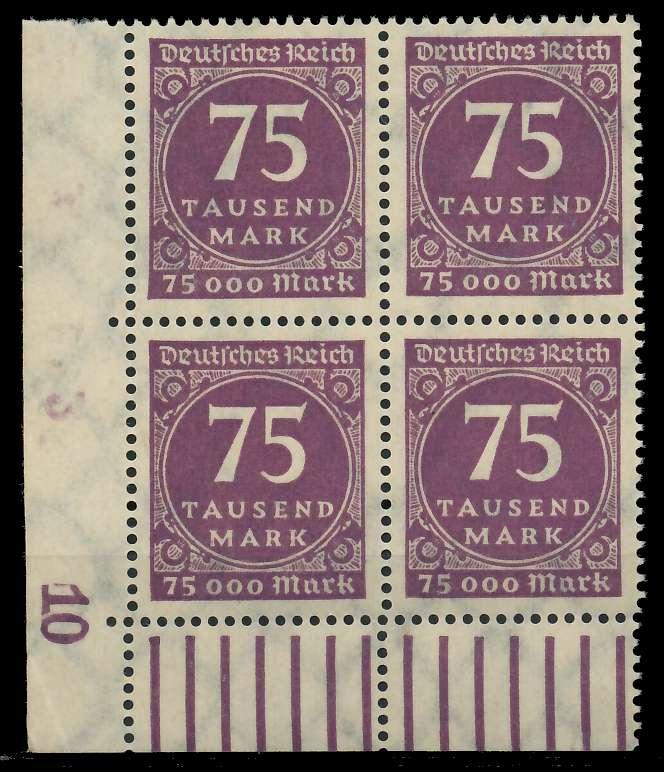 DEUTSCHES REICH 1923 INFLATION Nr 276 postfrisch VIERER 89C572