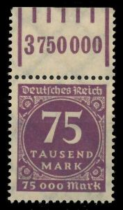 DEUTSCHES REICH 1923 INFLATION Nr 276 W OR 1-5- 89C57E