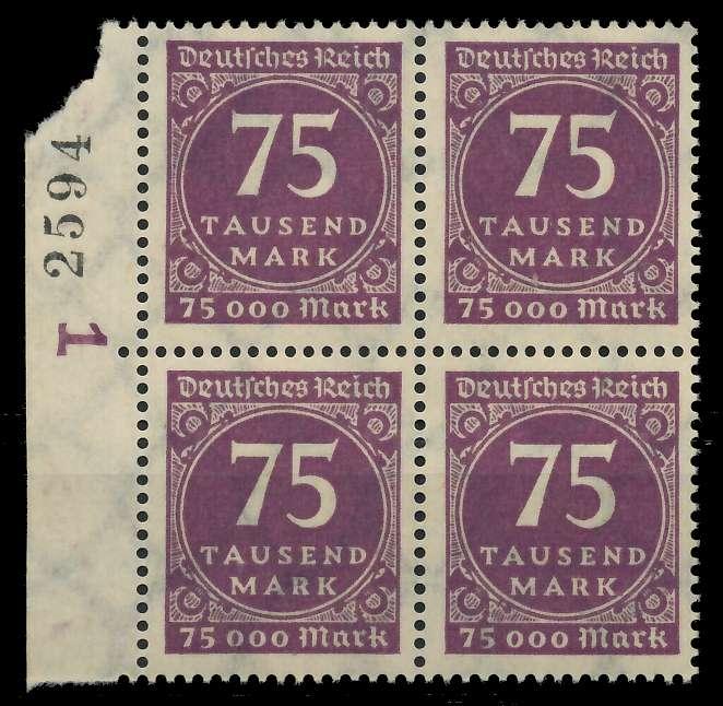 DEUTSCHES REICH 1923 INFLATION Nr 276 postfrisch VIERER 89C592