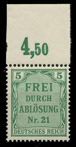 DEUTSCHES REICH DIENSTMARKEN 1903 05 Nr 3 postfrisch OR 89C5B2