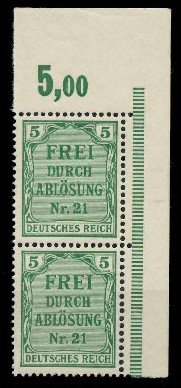 DEUTSCHES REICH DIENSTMARKEN 1903 05 Nr 3 postfrisch SE 89C5B6
