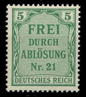 DEUTSCHES REICH DIENSTMARKEN 1903 05 Nr 3 postfrisch 89C5BA