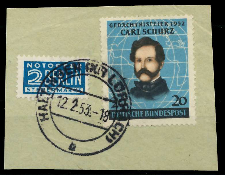 BRD 1952 Nr 155 zentrisch gestempelt Briefst³ck 89C5CA