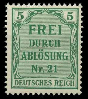 DEUTSCHES REICH DIENSTMARKEN 1903 05 Nr 3 postfrisch 89C636