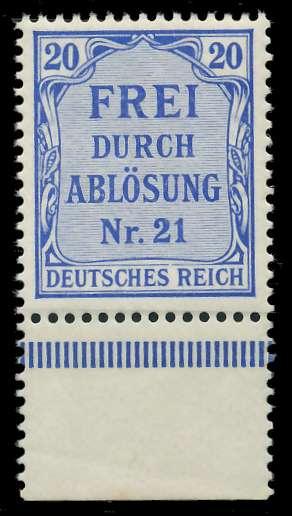 DEUTSCHES REICH DIENSTMARKEN 1903 05 Nr 5 postfrisch UR 89C63A