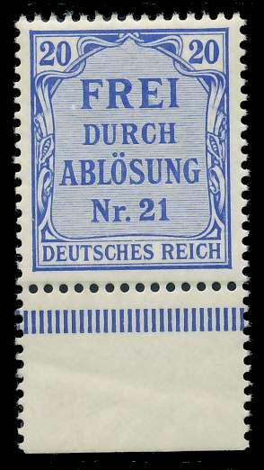 DEUTSCHES REICH DIENSTMARKEN 1903 05 Nr 5 postfrisch UR 89C642