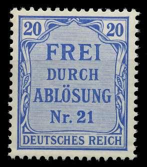 DEUTSCHES REICH DIENSTMARKEN 1903 05 Nr 5 postfrisch 89C646