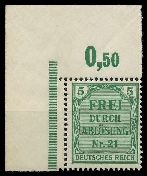 DEUTSCHES REICH DIENSTMARKEN 1903 05 Nr 3 postfrisch EC 89C64A