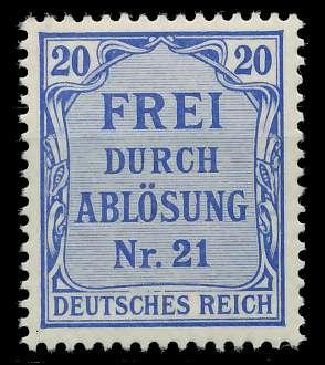 DEUTSCHES REICH DIENSTMARKEN 1903 05 Nr 5 postfrisch 89C64E