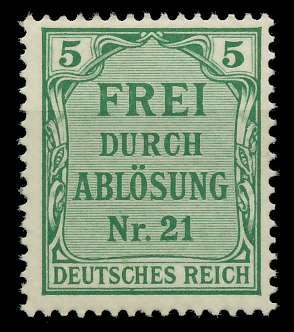DEUTSCHES REICH DIENSTMARKEN 1903 05 Nr 3 postfrisch 89C65E