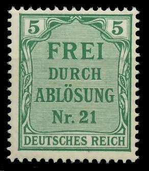 DEUTSCHES REICH DIENSTMARKEN 1903 05 Nr 3 postfrisch 89C662