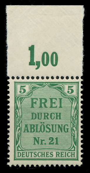 DEUTSCHES REICH DIENSTMARKEN 1903 05 Nr 3 postfrisch OR 89C66A