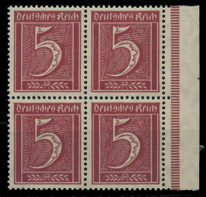 DEUTSCHES REICH 1921 INFLATION Nr 158 postfrisch VIERER 89C682