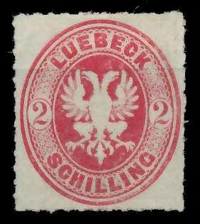 LÜBECK Nr 10 ungebraucht 89C686
