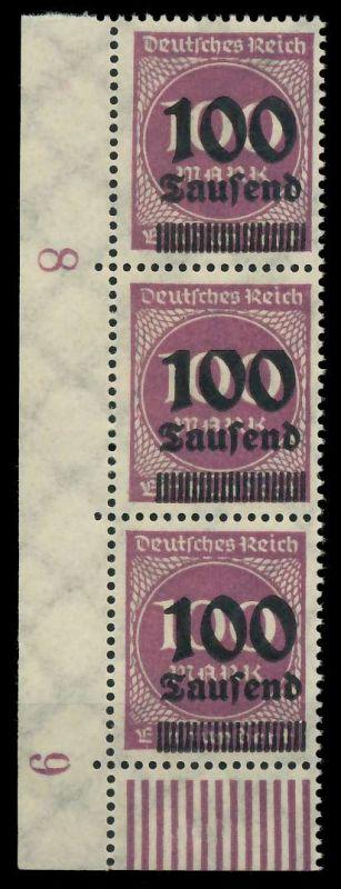 DEUTSCHES REICH 1923 HOCHINFLA Nr 289b postfrisch 3ER S 89C68A 0