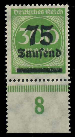 DEUTSCHES REICH 1923 HOCHINFLA Nr 286 postfrisch URA 89C6BA