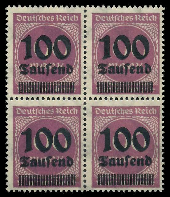 DEUTSCHES REICH 1923 HOCHINFLA Nr 289b postfrisch VIERE 89C6C2