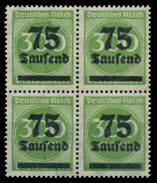 DEUTSCHES REICH 1923 HOCHINFLA Nr 286 postfrisch VIERER 89C6C6 0