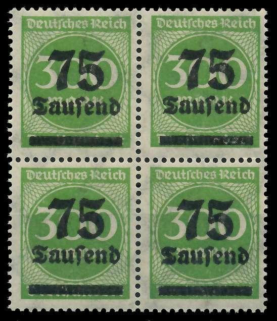 DEUTSCHES REICH 1923 HOCHINFLA Nr 286 postfrisch VIERER 89C6DA