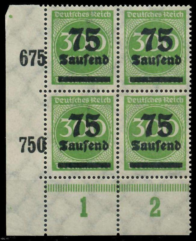 DEUTSCHES REICH 1923 HOCHINFLA Nr 286 postfrisch VIERER 89C6DE 0