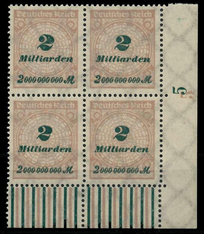 DEUTSCHES REICH 1923 HOCHINFLA Nr 326A postfrisch VIERE 89C6E2