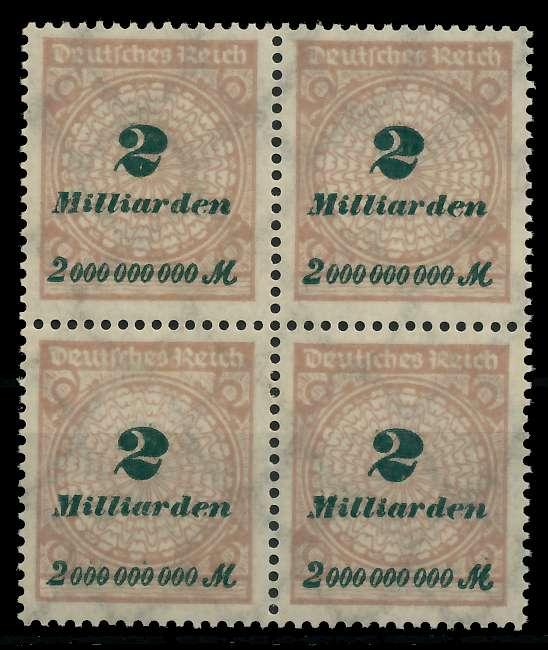 DEUTSCHES REICH 1923 HOCHINFLA Nr 326A postfrisch VIERE 89C6E6