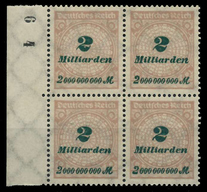 DEUTSCHES REICH 1923 HOCHINFLA Nr 326A postfrisch VIERE 89C6F2