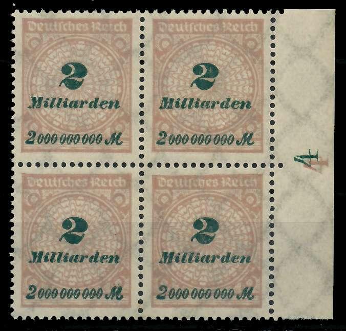 DEUTSCHES REICH 1923 HOCHINFLA Nr 326A postfrisch VIERE 89C70A