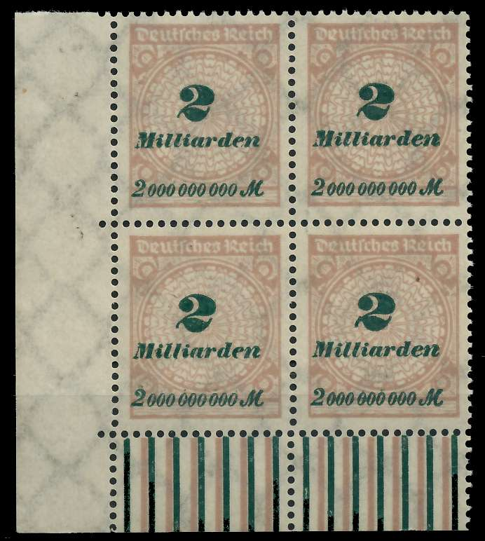 DEUTSCHES REICH 1923 HOCHINFLA Nr 326A postfrisch VIERE 89C70E