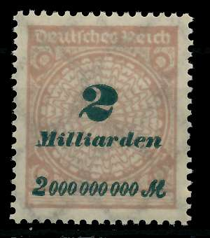 DEUTSCHES REICH 1923 HOCHINFLA Nr 326A postfrisch 89C716