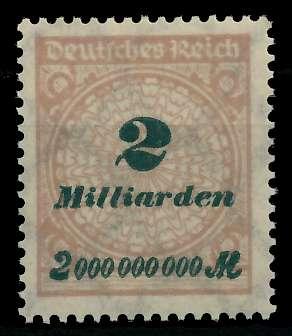 DEUTSCHES REICH 1923 HOCHINFLA Nr 326A postfrisch 89C71A
