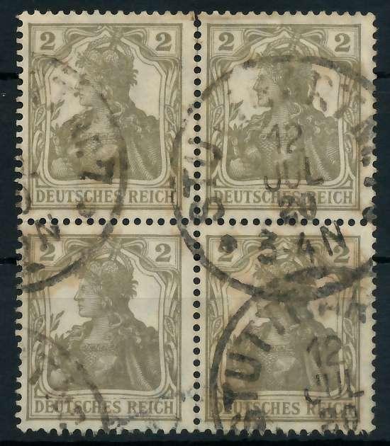 DEUTSCHES REICH 1900 18 GERMANIA Nr 102 gestempelt VIERE 89C74A