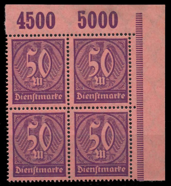 DEUTSCHES REICH DIENSTMARKEN 1920 21 Nr 73 P OR 89C75A 0