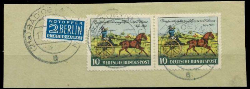 BRD 1952 Nr 160 zentrisch gestempelt WAAGR PAAR Briefst³ck 89C76E