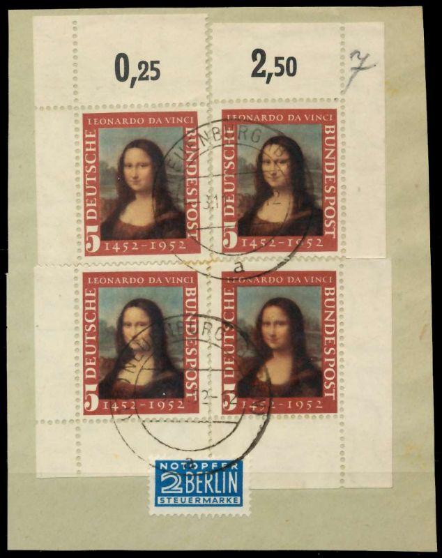 BRD 1952 Nr 148II zentrisch gestempelt ECKE-ORE 89C786