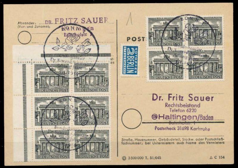 BERLIN DS BAUTEN 1 Nr 42 BRIEF MEF 89C796 0