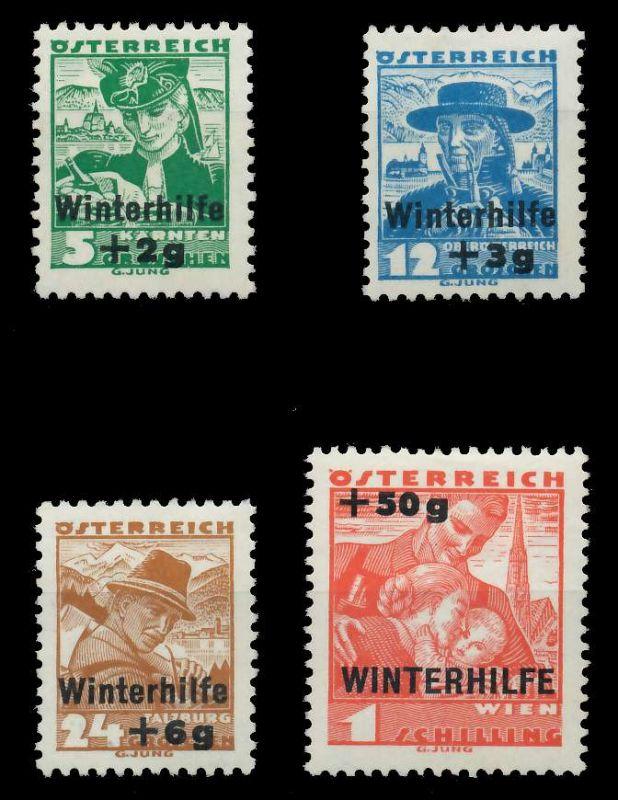ÖSTERREICH 1935 Nr 613-616 ungebraucht 89C7E6 0