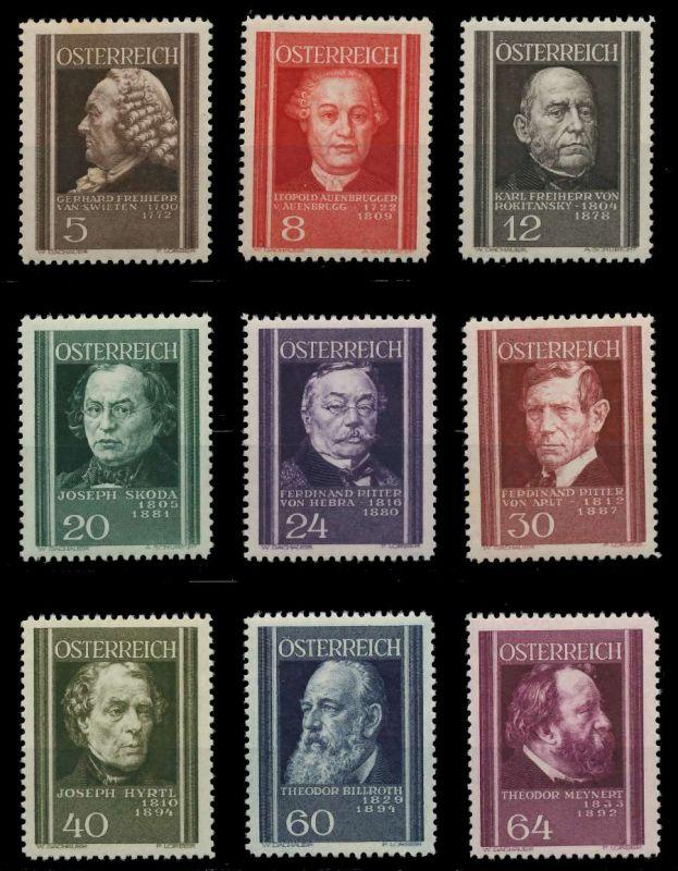 ÖSTERREICH 1937 Nr 649-657 ungebraucht 89C7EA 0