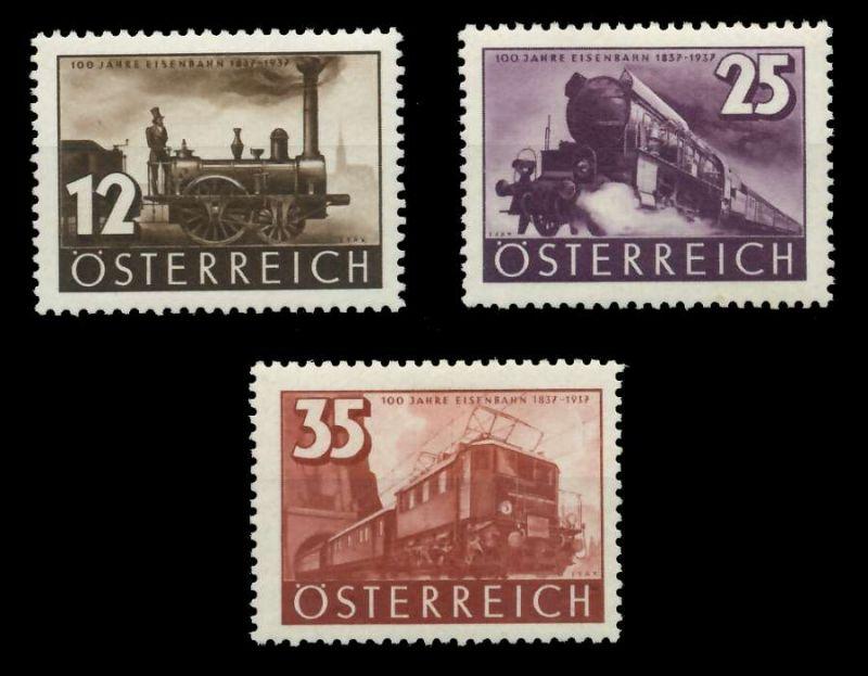 ÖSTERREICH 1937 Nr 646-648 ungebraucht 89C7EE 0