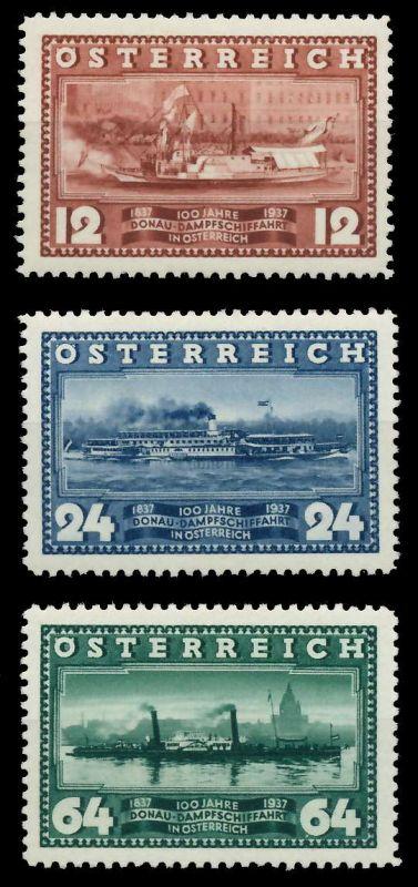 ÖSTERREICH 1937 Nr 639-641 ungebraucht 89C7F6 0