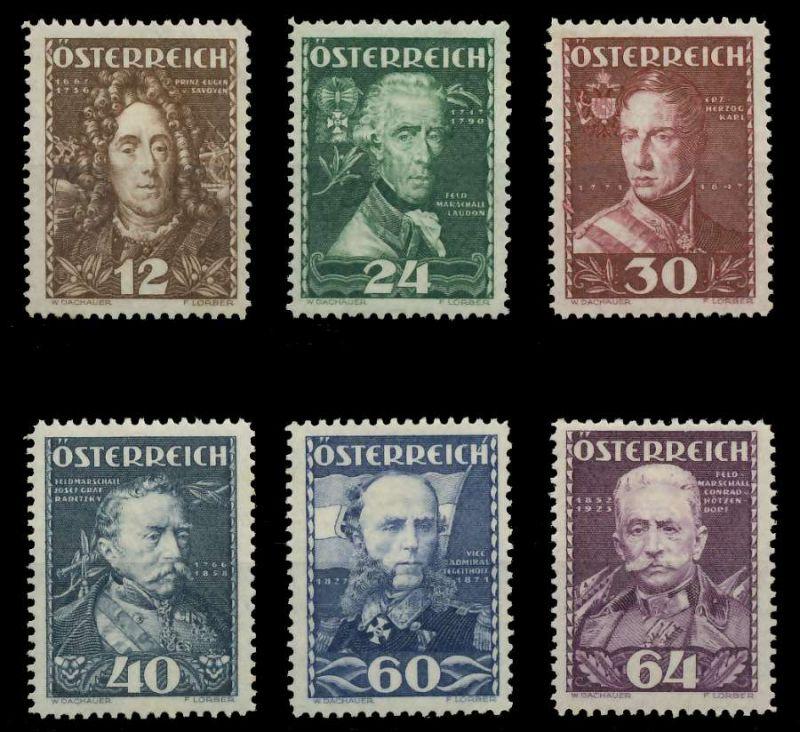 ÖSTERREICH 1935 Nr 617-622 ungebraucht 89C812 0
