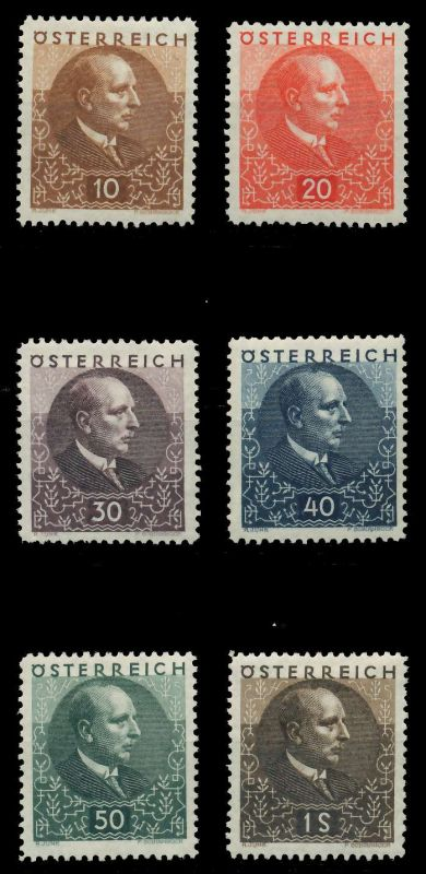 ÖSTERREICH 1930 Nr 512-517 ungebraucht 89C816 0